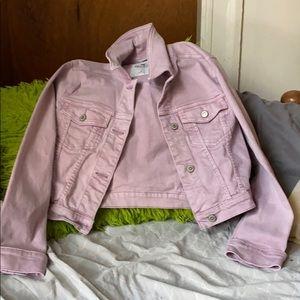 Light purple jean jacket